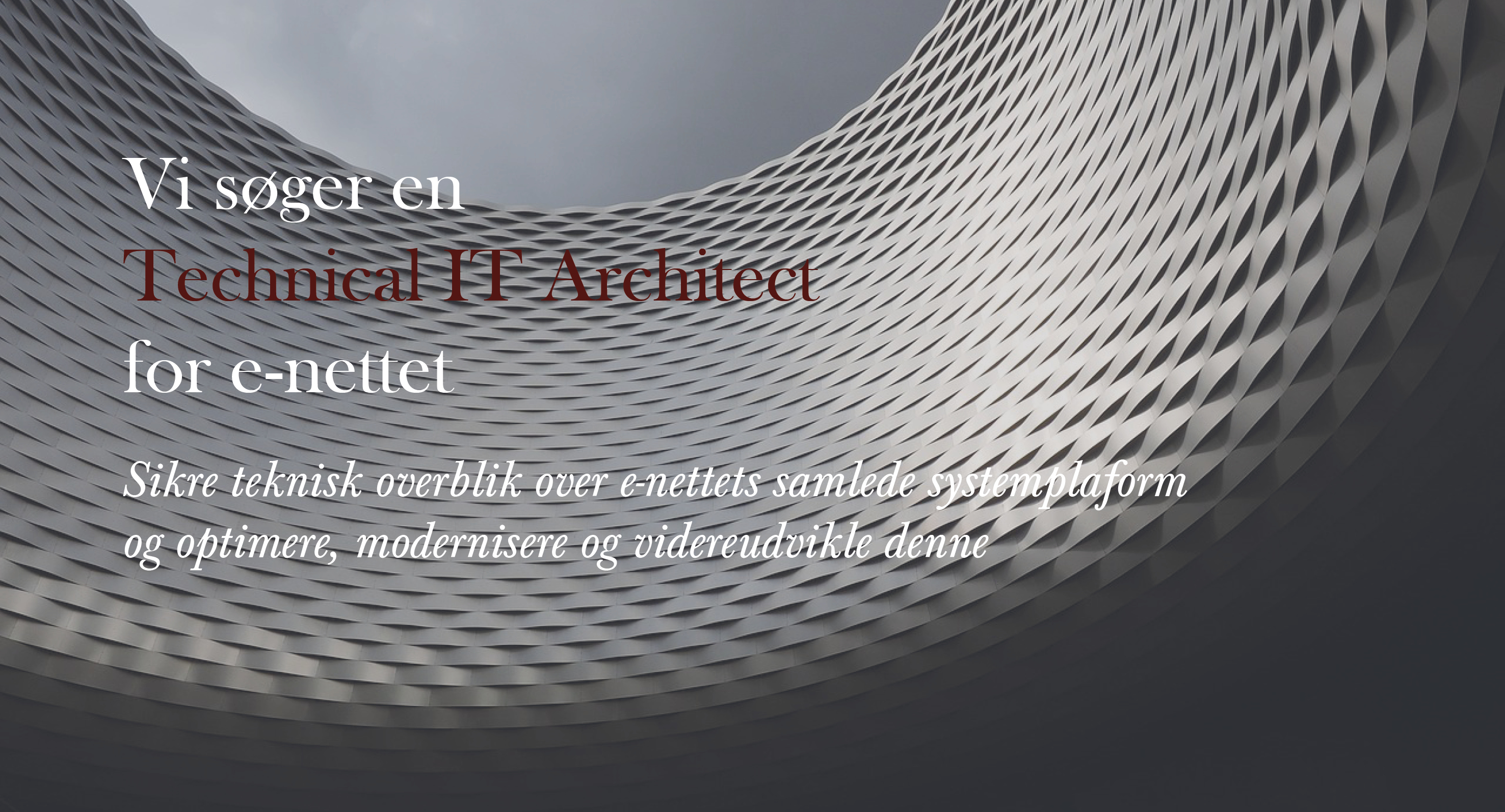 e-nettet - Technical IT Architect