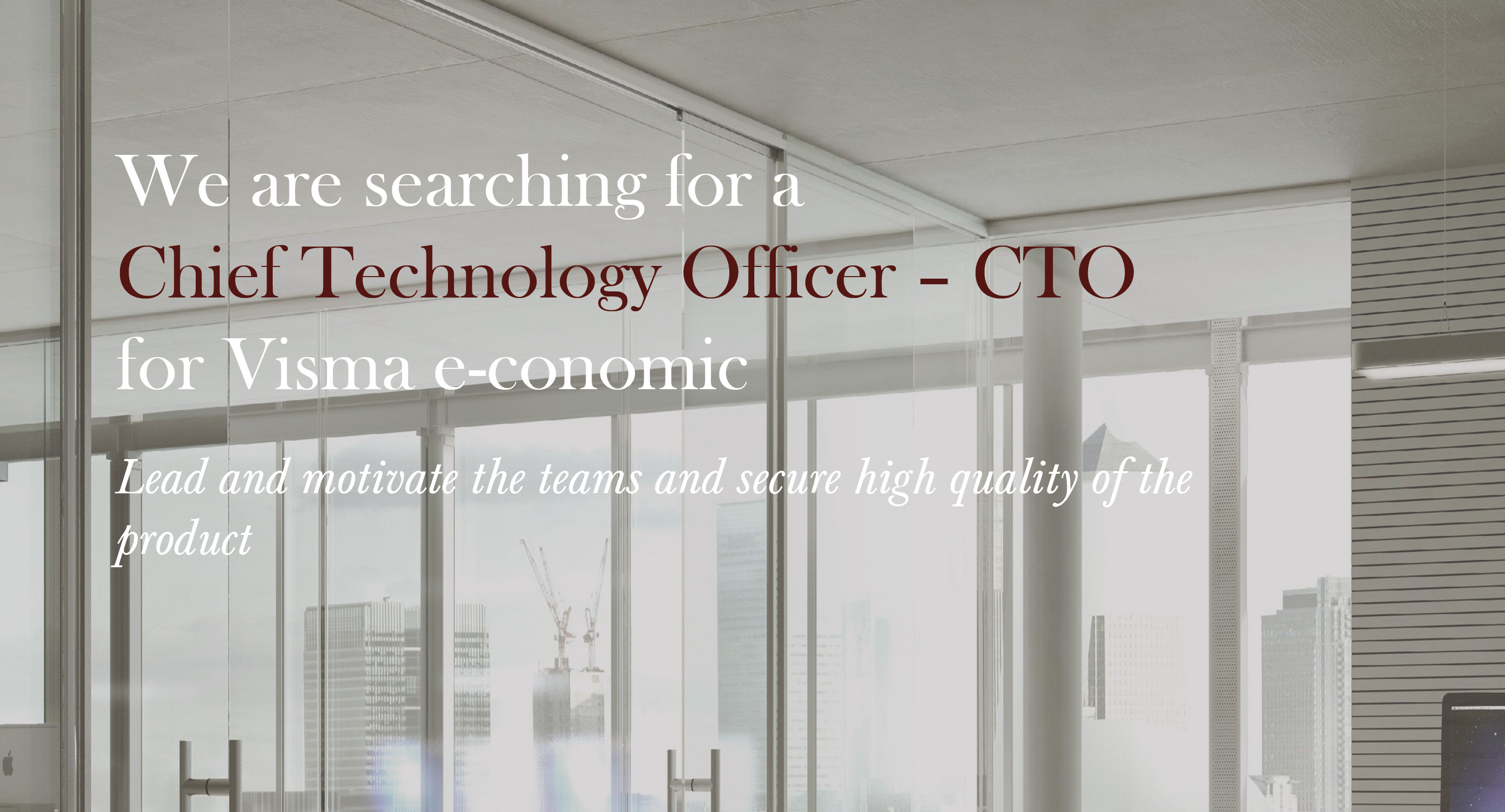 Cheif Technology Officer - CTO, Visma e-conomic