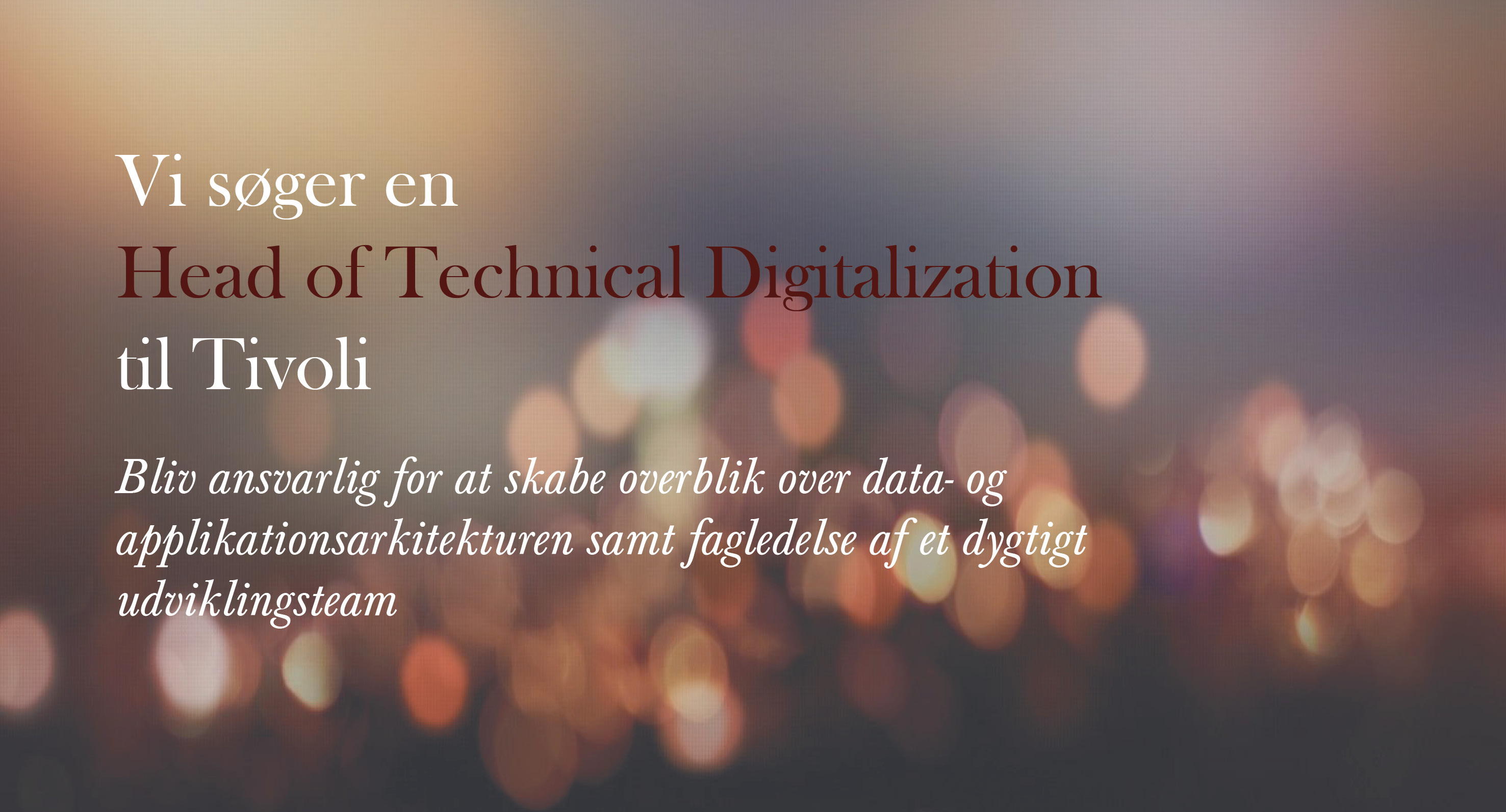 Head of tech. digital. - Tivoli
