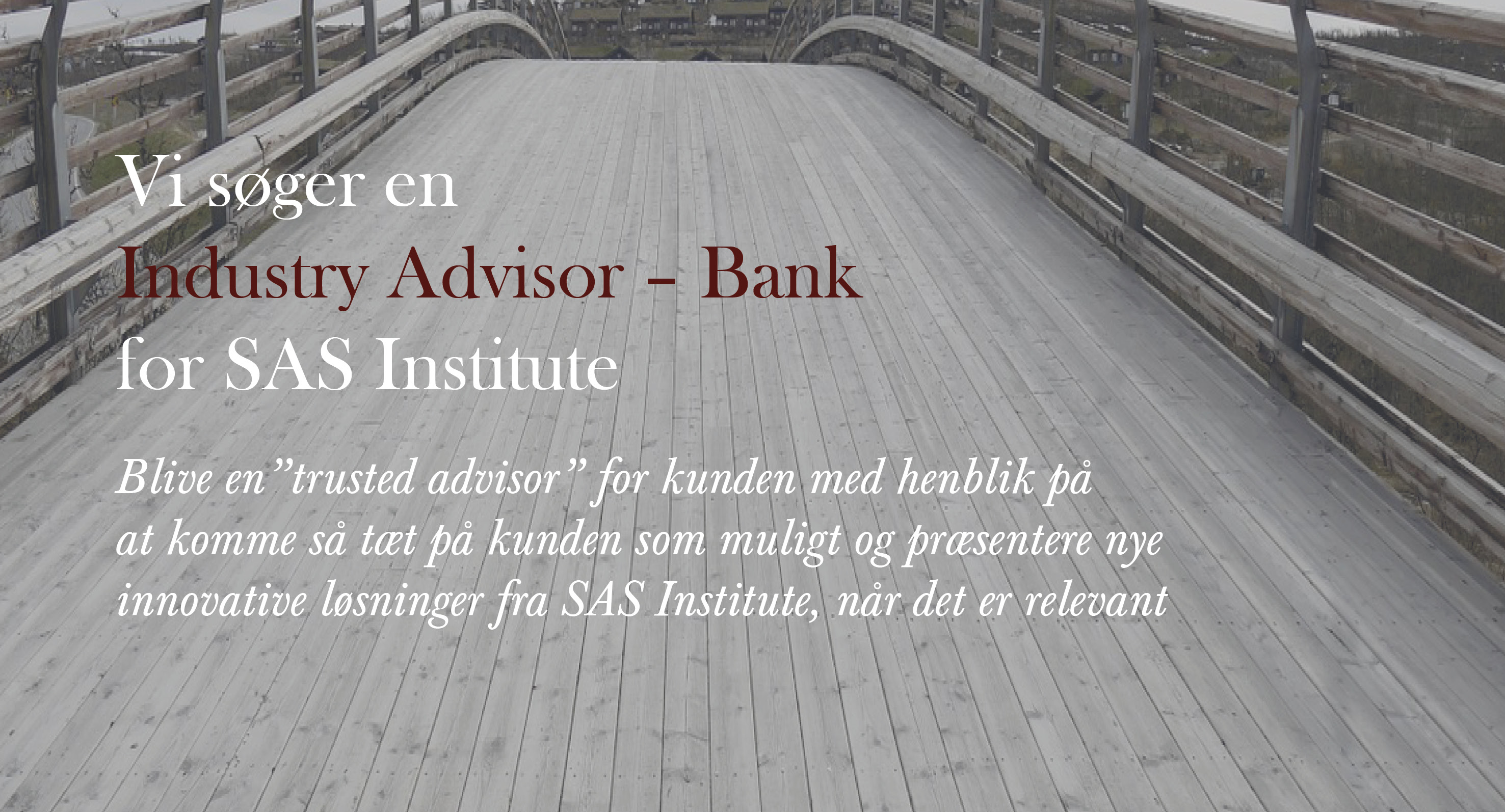 Industry Advisor - Bank