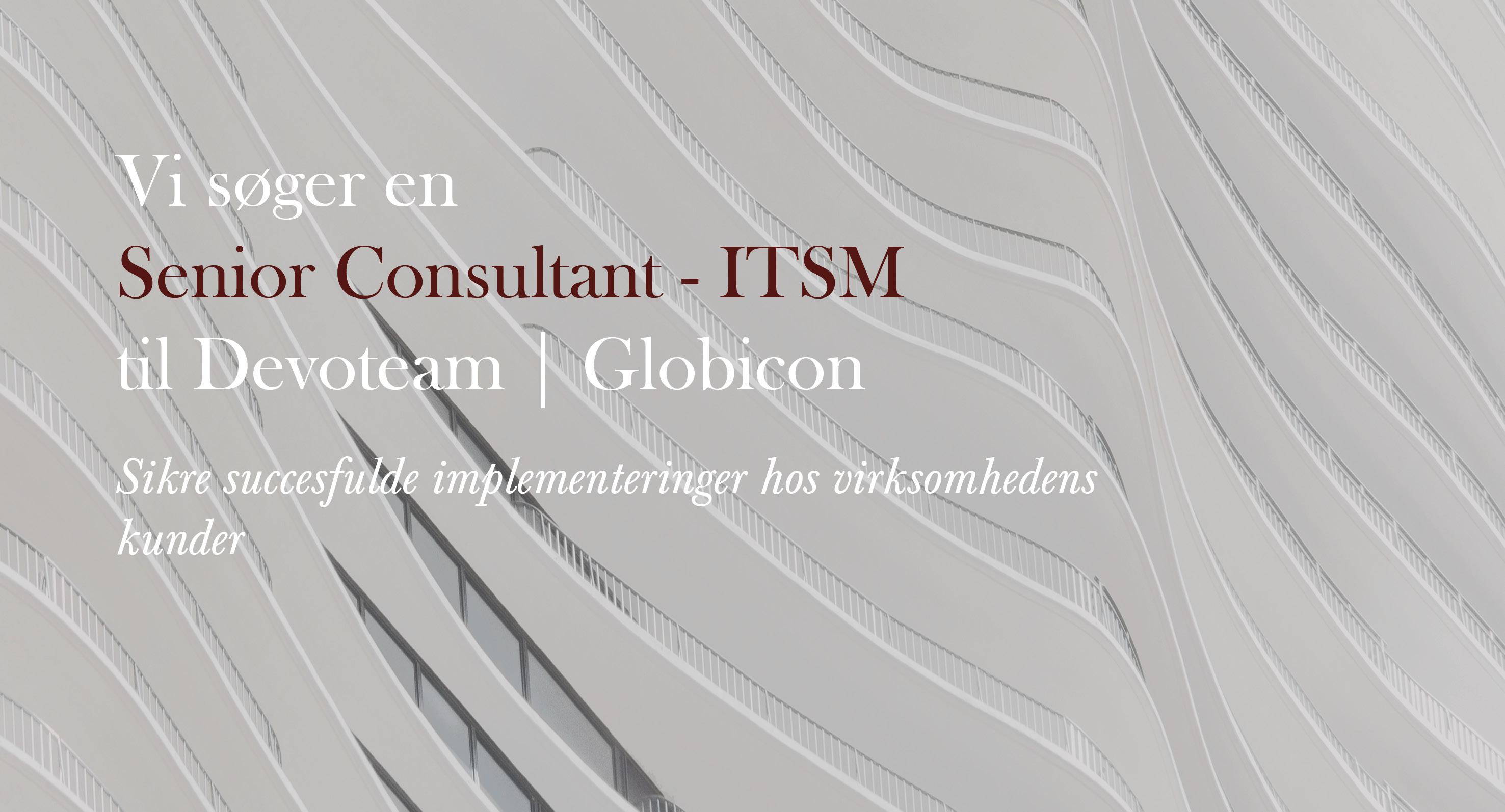 Senio Consultant - ITSM - Devoteam - Globicon