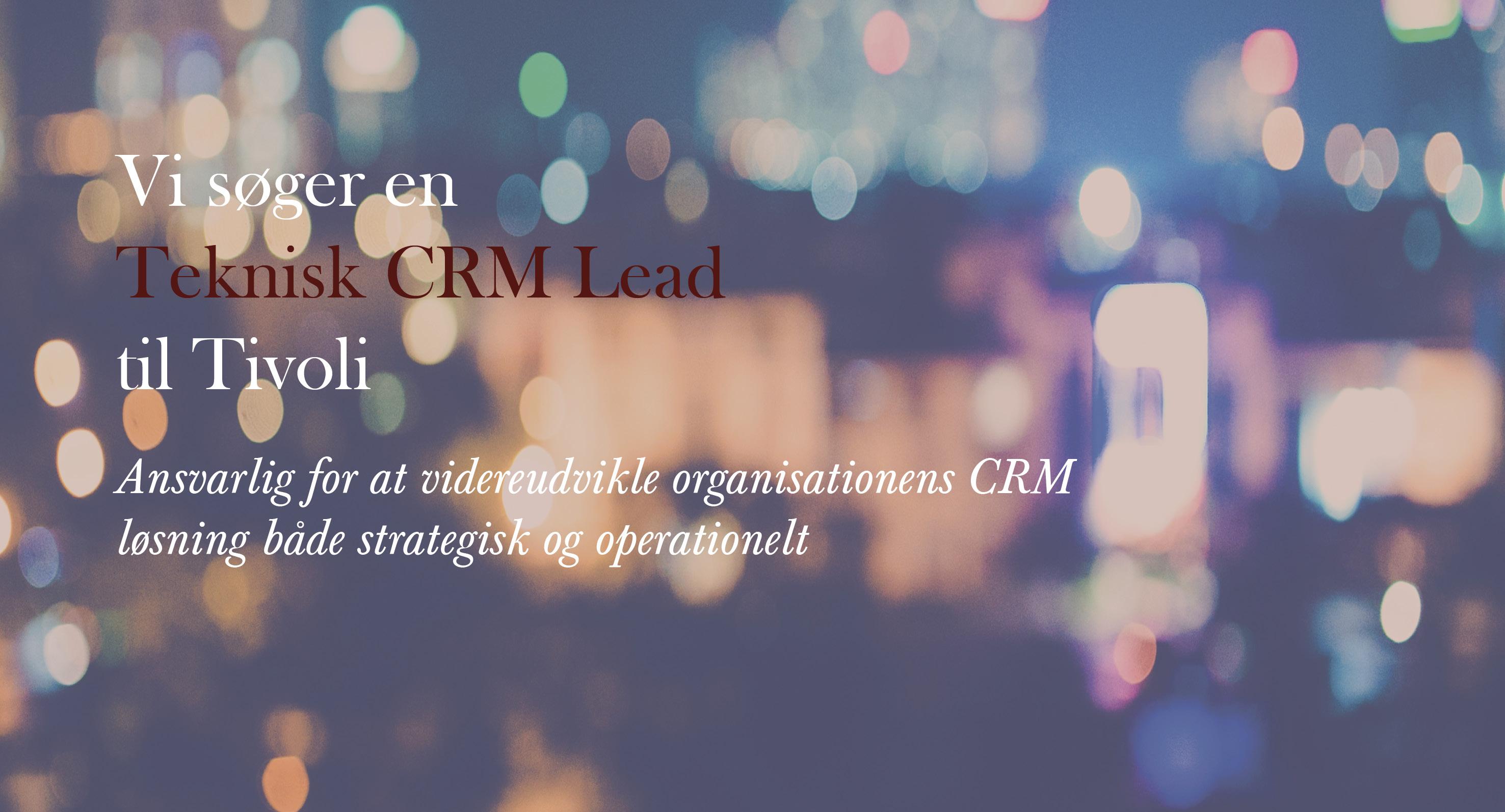 Teknisk CRM Lead - Tivoli