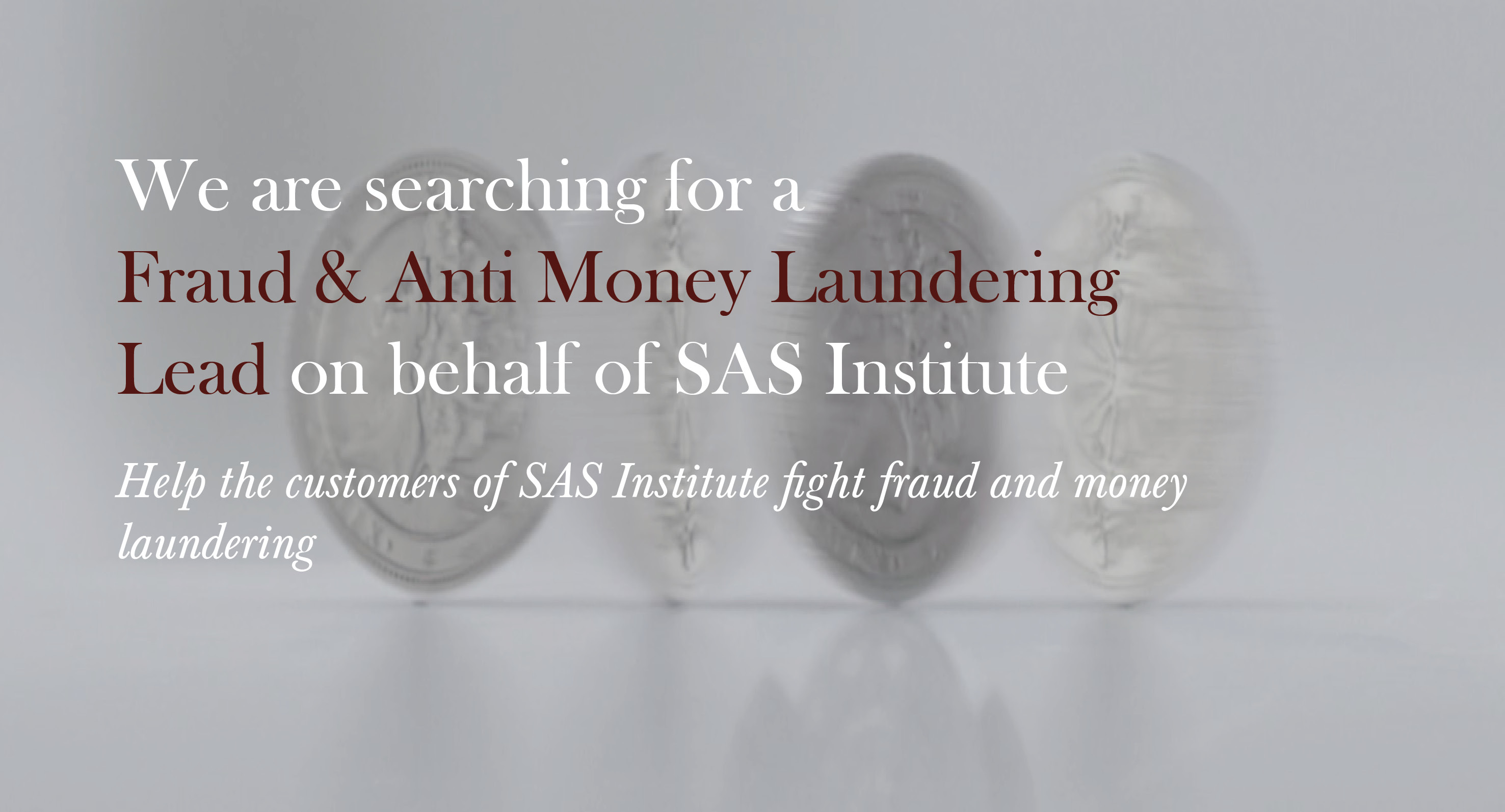 Fraud and AML Lead - SAS Institute