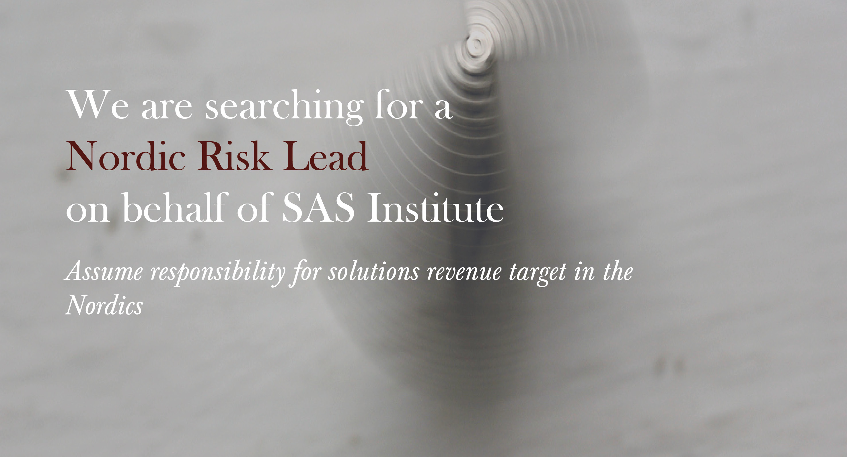 Nordic Risk Lead - SAS Institute
