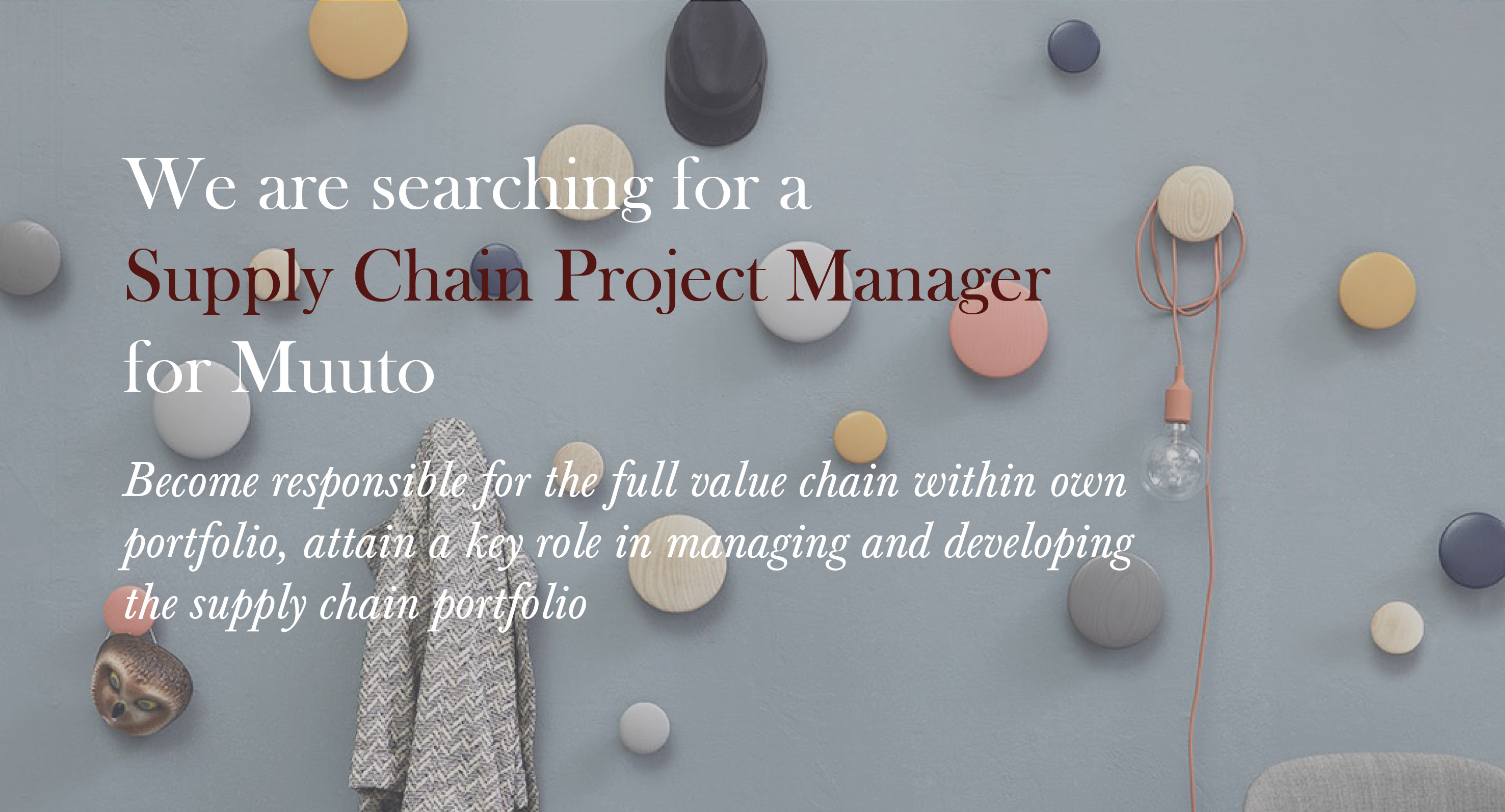 Supply Chain Project Manager Muuto