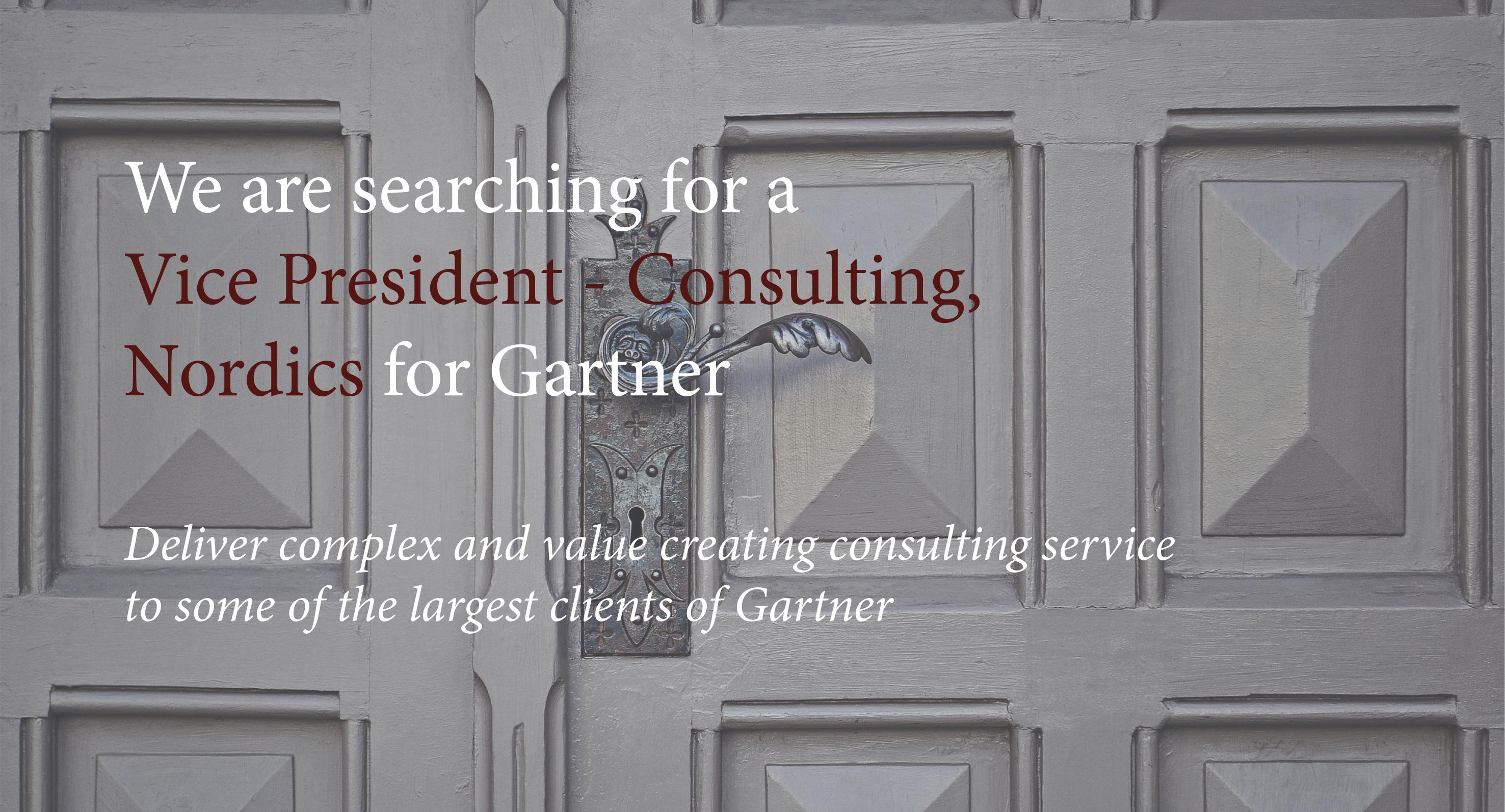 Gartner - Vice President